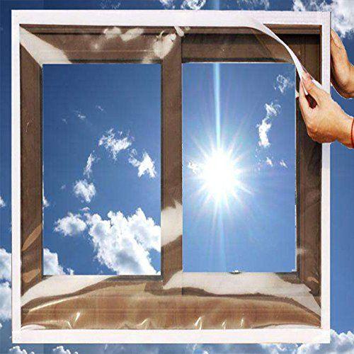 Ses Co Reusable Transparent Indoor Window Insulation Kit Heavy