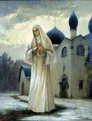Grand Duchess Elizaveta Feodorovna ~ (Martha and Mary Convent of Mercy in background)