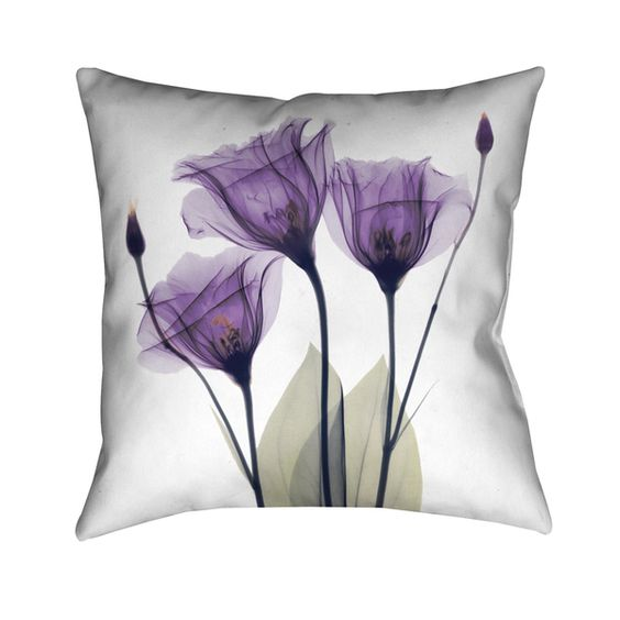 Laural Home Lavender Floral 18-inch Decorative Throw Pillow