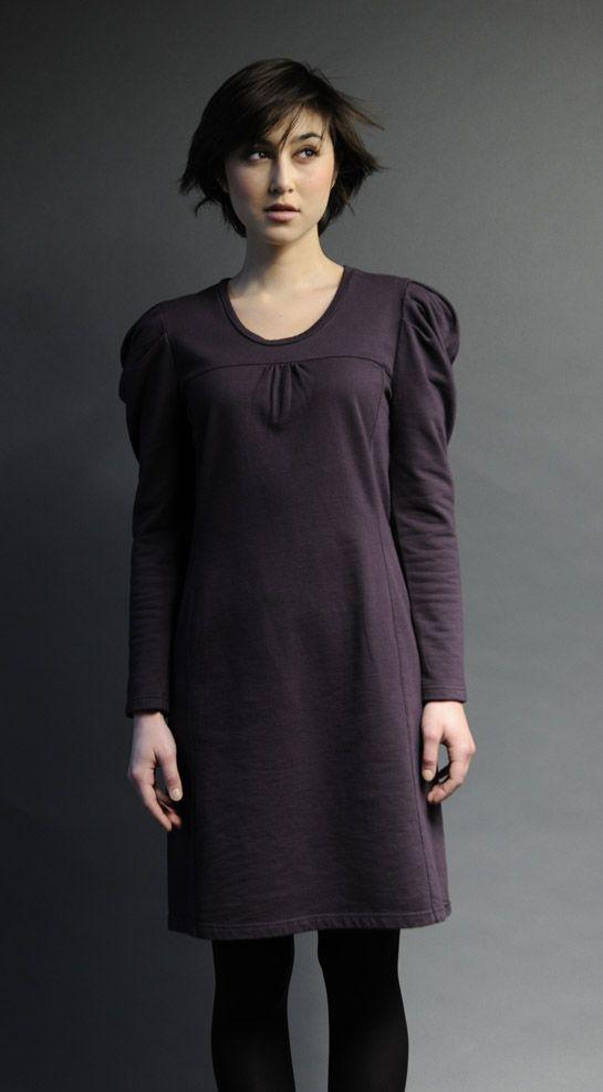 Robe manche gigot JANIS Molleton coton bio  http://www.sobosibio.com/janis-xml-0-1105.html