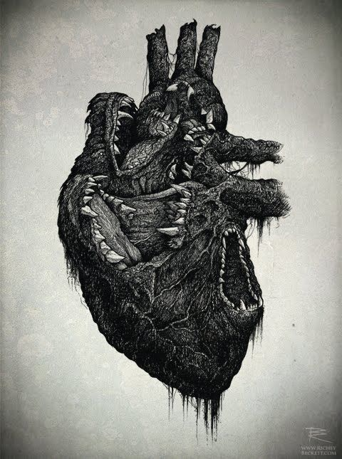 Hungry heart. This would make a sick and slightly creepy tattoo.: