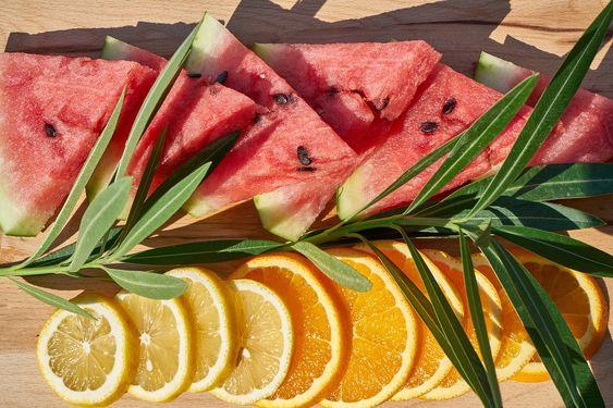 Tomar frutas y verduras