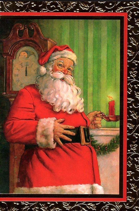 Old Christmas Post Сards — Santa Claus (590x900):