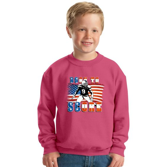 Born To Score Football Player 04 Kids Sweatshirt