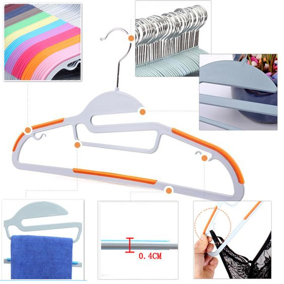 Smart-Hangers PRO Antirutsch Kleiderbügel kaufen (10-er Pack)