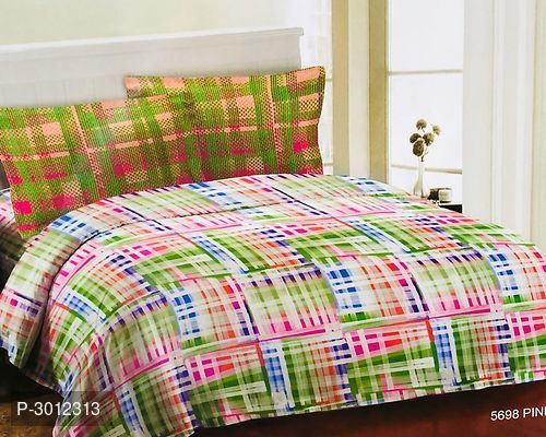 Bombay Dyeing Multicoloured Cotton Double Size Abstract Bedsheet 1 Bedsheet With 2 Pillowcover Bed Sheets Bombay Dyeing Home And Living