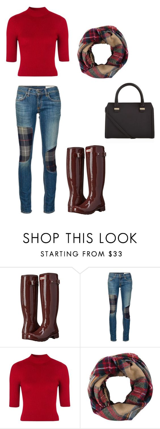 """""""It's beginning to look a lot like fall"""" by agdancer10 ❤ liked on Polyvore featuring Hunter, rag & bone/JEAN, Topshop and Victoria Beckham"""