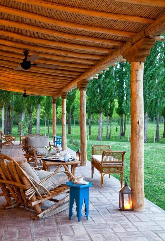 Estilo rustico galerias rusticas casa de campo for Decoracion rustica campestre