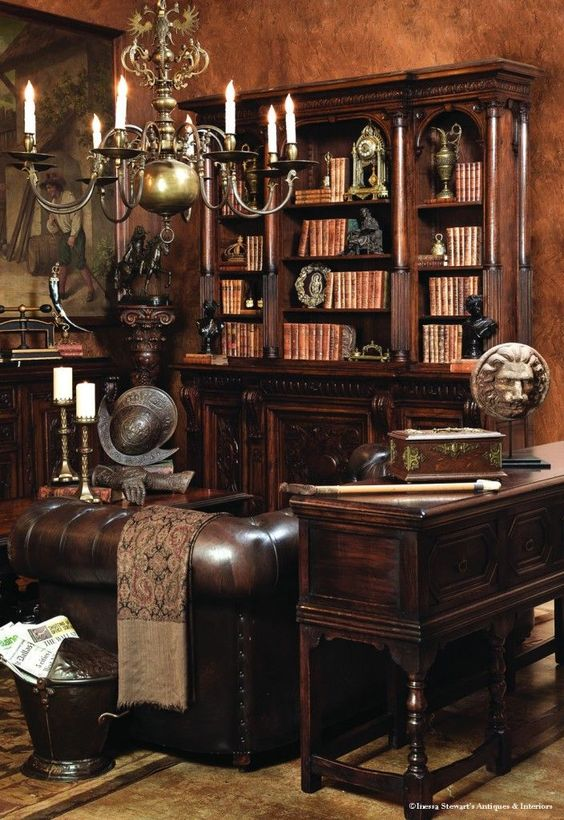 Antiques Fill This Old World Library