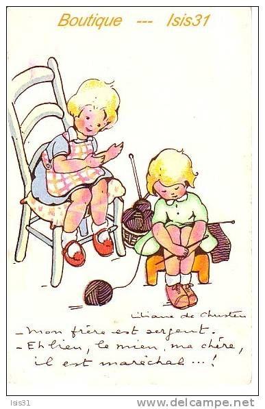liliane de christen enfants humour - Delcampe.fr