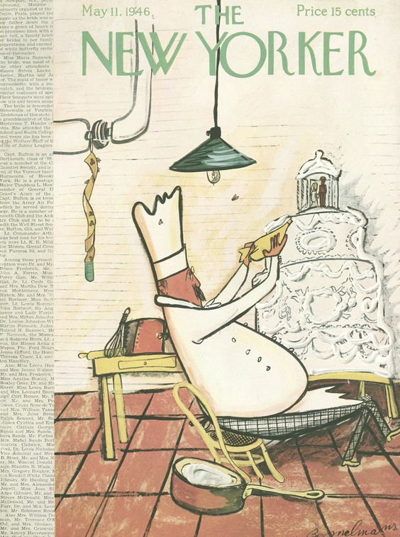 The New Yorker - Saturday, May 11, 1946 - Issue # 1108 - Vol. 22 - N° 13 - Cover by : Ludwig Bemelmans