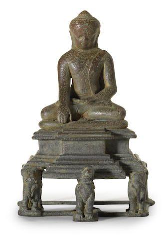 Buddha Shakyamuni Bronze West Bengal or Bangladesh Pala period, circa 11th century