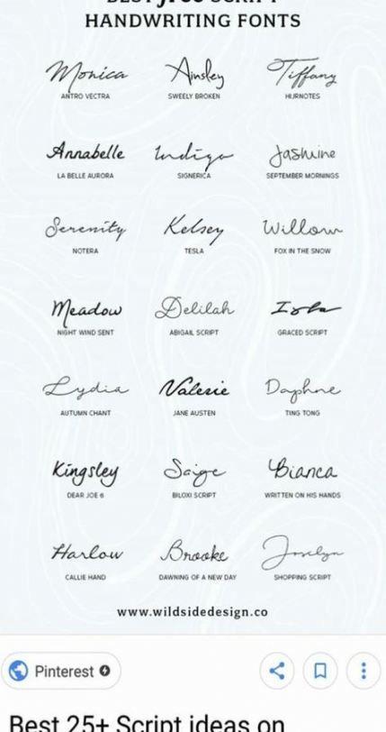 Cursive Fonts Tattoos : cursive, fonts, tattoos, Trendy, Ideas, Tattoo, Fonts, Cursive, Alphabet, Writing, #tattoo, Script, Fonts,