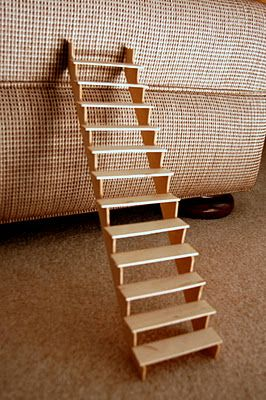 Tips : these stairs have been made from popsicle sticks