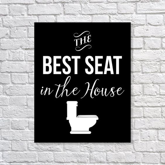 Hey, I found this really awesome Etsy listing at https://www.etsy.com/listing/199422882/bathroom-decor-toilet-humor-the-best