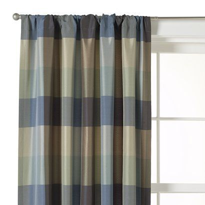 Target Home™ Plaid Window Panel - Blue/ Brown (54x84