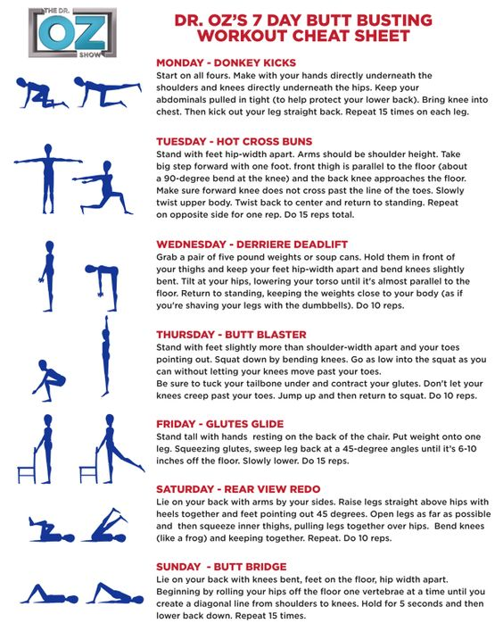 Dr Oz's 7 Day butt busting workout