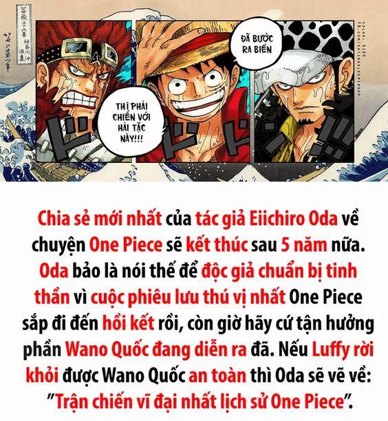 """Chia sẻ mới nhất của tác giả Oda về """"đứa con tinh thần"""" One Piece"""