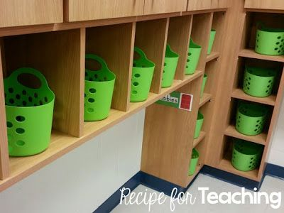 Book baskets for independent reading!