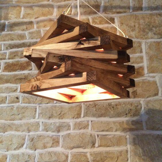 Holz Spirale moderne abstrakte zeitgenössische Licht passend rustikal