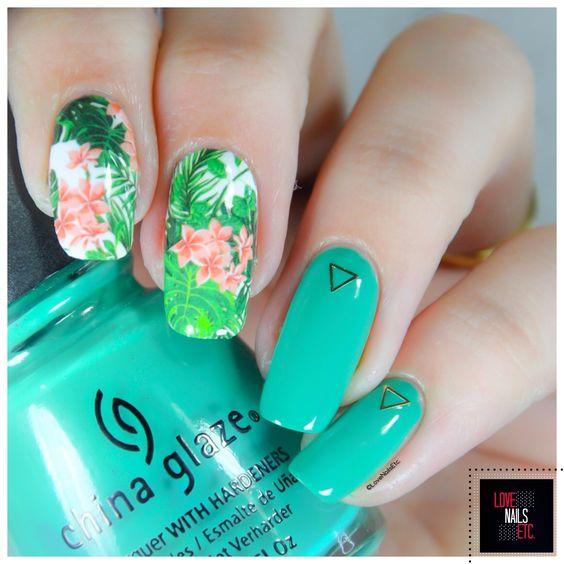 Nature exotique - Revue de water decals Nicole Diary - %%type%% %%cat%% par Love Nails Etc