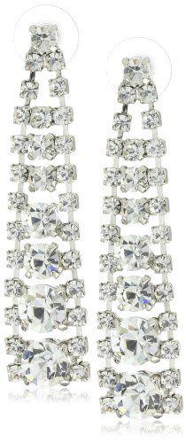 "Martine Wester Jewelry ""Bridal"" Crystal Drop Earrings"