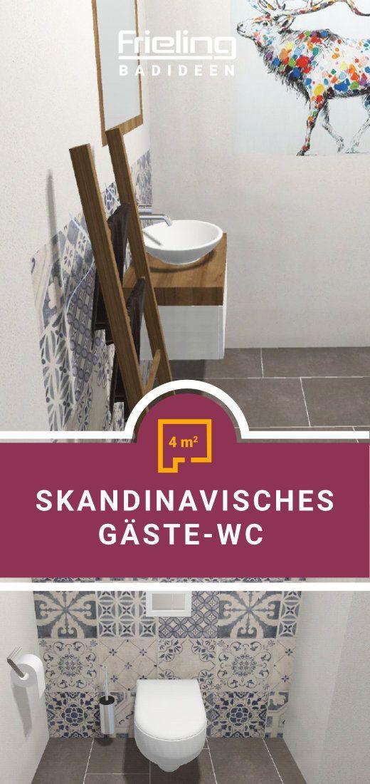 Das Skandinavische Gaste Wc 4 Qm Gaste Wc Wc Renovieren Nobles Wohnzimmer