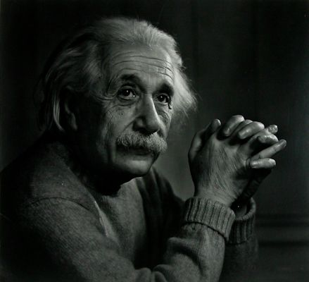 Yousuf Karsh, Albert Einstein, 1948, 1982 Silver Gelatin Print, Edition 9/100, Signed (l.l.) 18.75 x 20.75 inches