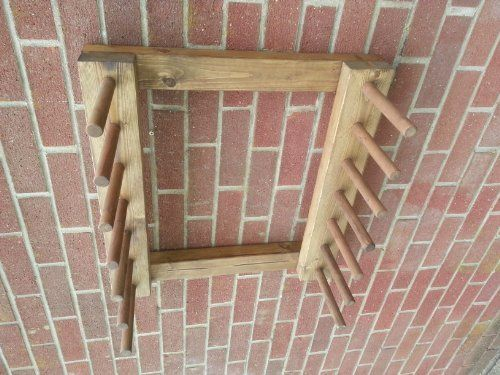 WALL MOUNTED WELLY BOOT RACK WELLINGTON RIDING BOOT RACK 6 PAIR 44x28x60