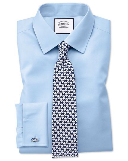With light shirt to wear tie blue What color