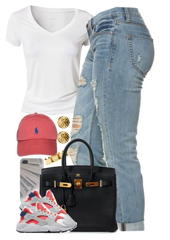 """""""Untitled #1525"""" by power-beauty ❤ liked on Polyvore featuring Calvin Klein, Polo Ralph Lauren, Chanel, Hermès and NIKE"""