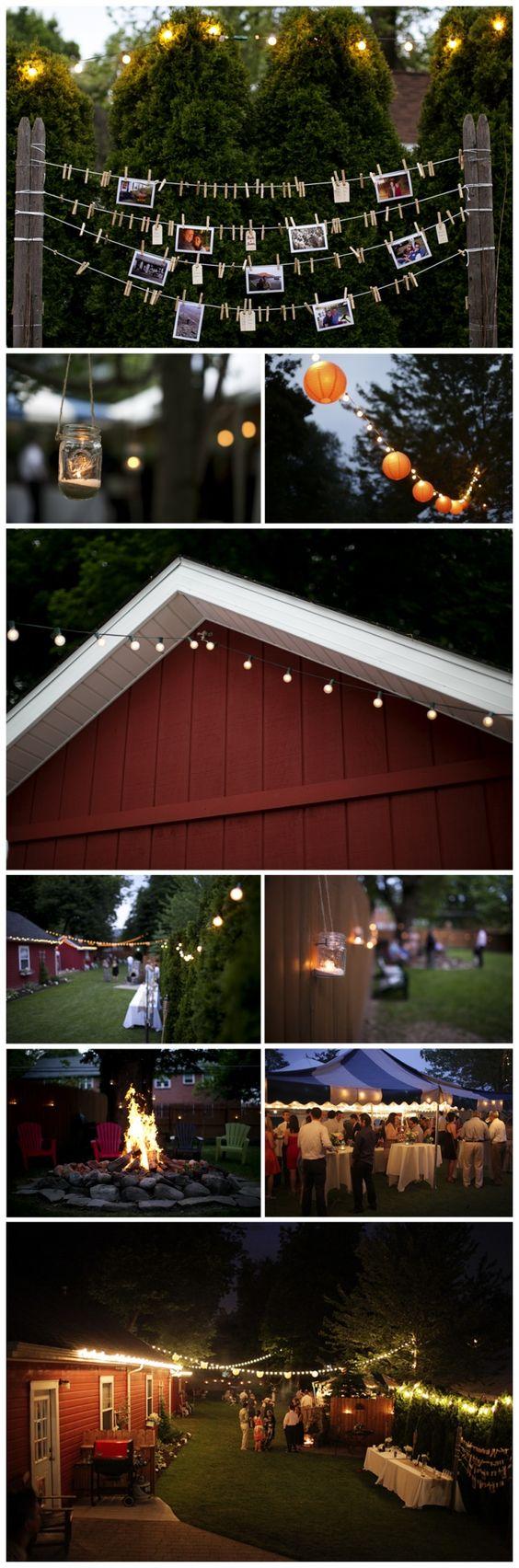 Best 25 Outside Party Lighting Ideas On Pinterest
