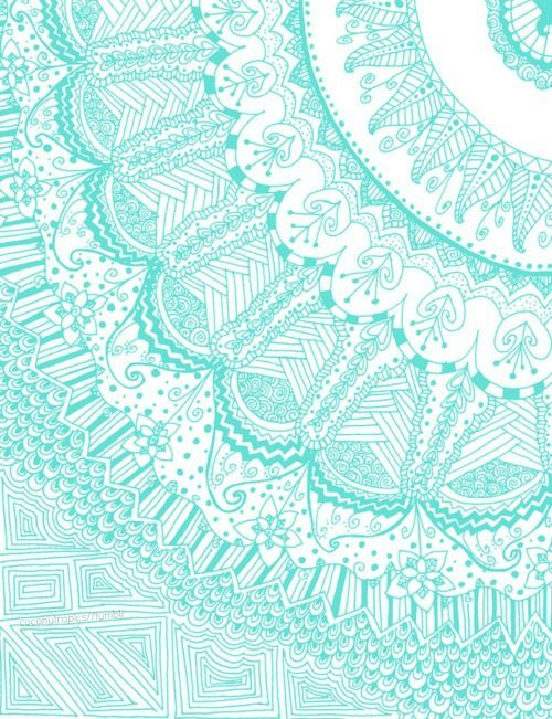 light blue lace mandala - photo #28