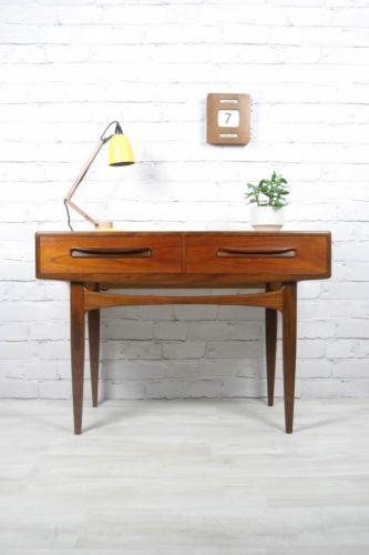 Vintage G-Plan console table.  http://www.ebay.co.uk/itm/G-PLAN-RETRO-VINTAGE-TEAK-FRESCO-MIDCENTURY-CONSOLE-TABLE-DESK-1950s-60s-70s-/230743698115?pt=UK_Antiques_AntiqueFurniture_SM&hash=item35b9656ac3  https://www.facebook.com/mustardvintage