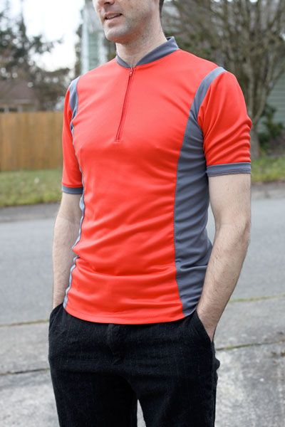The Train To Crazy: Sewing for Men: Men's Cycling Jersey (Green Pepper's Pattern)