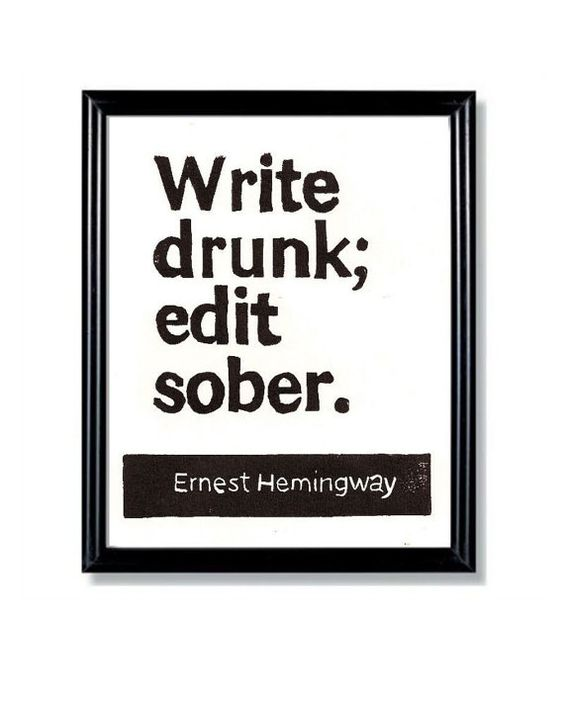 Hemingway Quote...  for Joey!