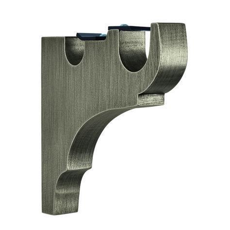Houles 1 Metallic Finish Console O 35mm 25mm 1 3 8 1 Villa 62088 77 Cortineros De Metal Barras De Cortina De Madera Cortineros De Madera