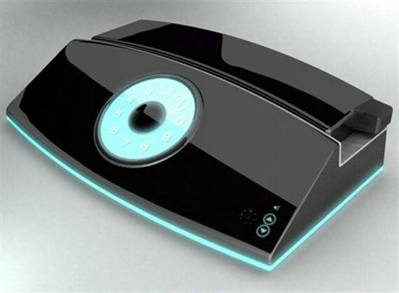 デザインが個性的な電話
