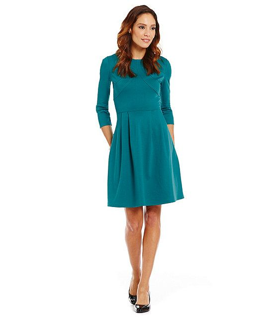 Alex Marie Fit And Flare Dress With Pockets Love Teal