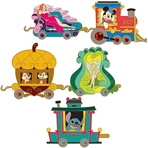 Disney Train Pin set