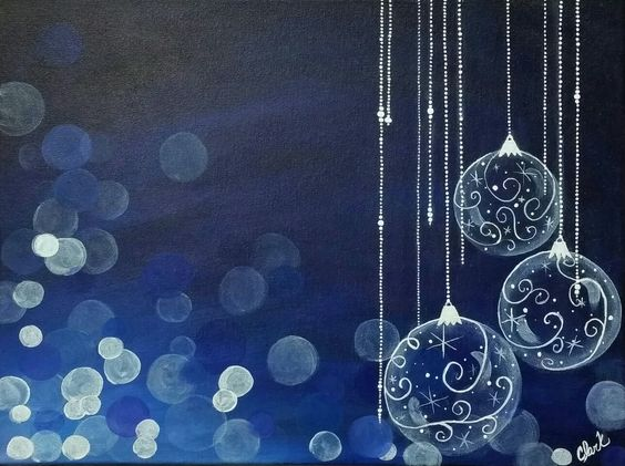 Festive fun - Painting with Jane tutorial on youtube