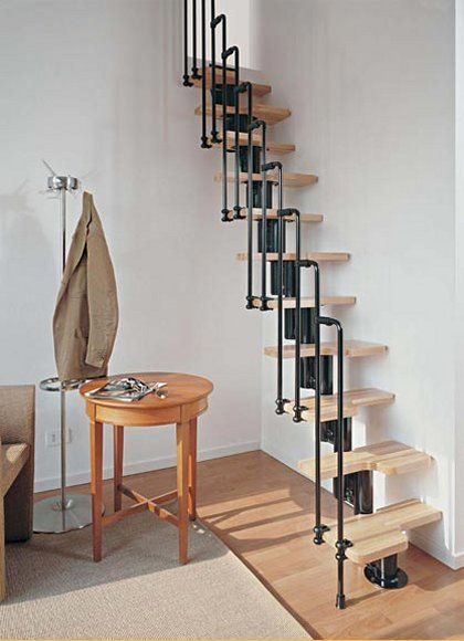 The Karina compact stair system from StairKit.com makes attics accessible using very little space.