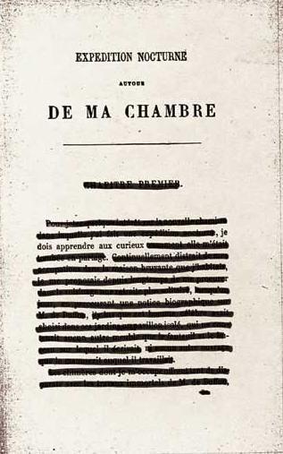 """« je dois apprendre aux curieux » (Xavier de Maistre, 1763 - 1852) Credits: Anna Rosa Faina Gavazzi, """"Expédition Nocturne autour De Ma Chambre"""" (2006)"""