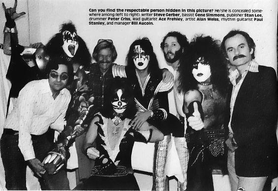 Kiss y el equipo de Marvel Comics