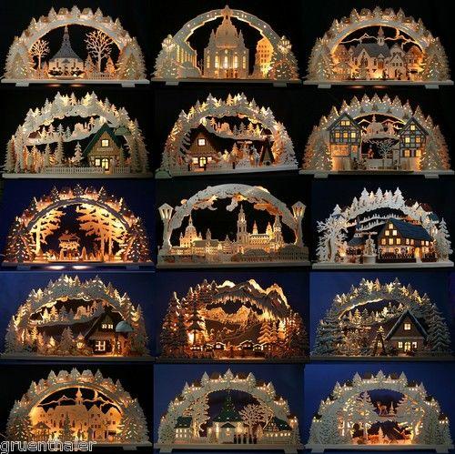 3D-SCHWIBBOGEN ERZGEBIRGE Dresden Seiffen Pyramide geschnitzt Lichterbogen | eBay