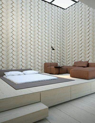 חדר שינה מוגבה מתוכנן כך שהמגירות הקפיות מהוות ארונות וארגזי מצעים ענקיים   www.rezo-designer... 972-508364900