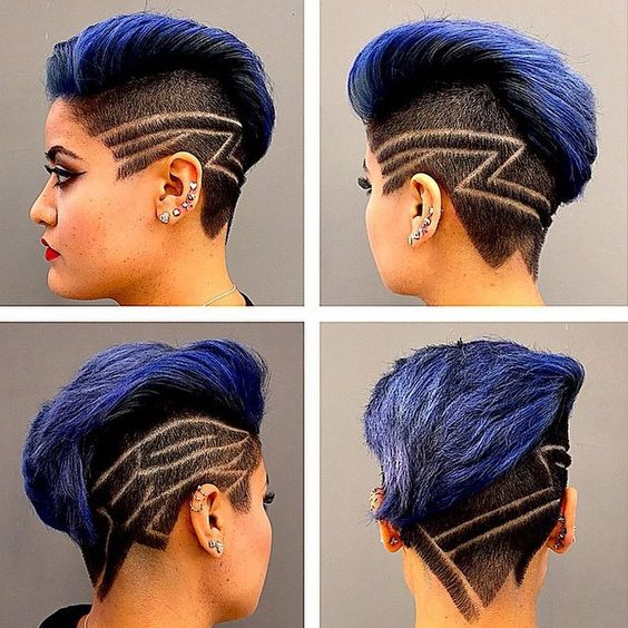 Chicas pelo and amor on pinterest for Hair tattoo for girl