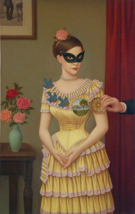 Colette Calascione, Self Portrait with Internal Landscape