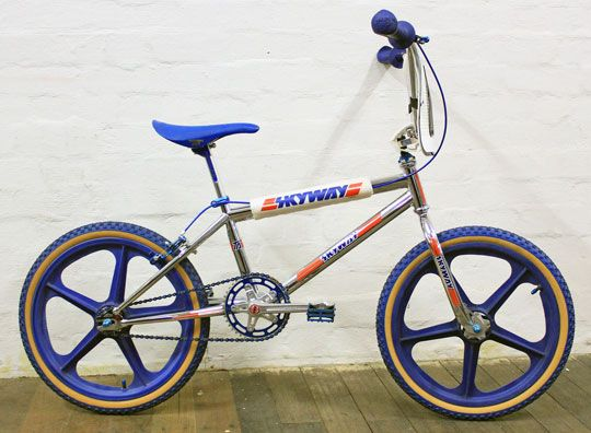 Skyway Ta Flite Cranks Cobra Grips Blue Tuff Wheels Nice