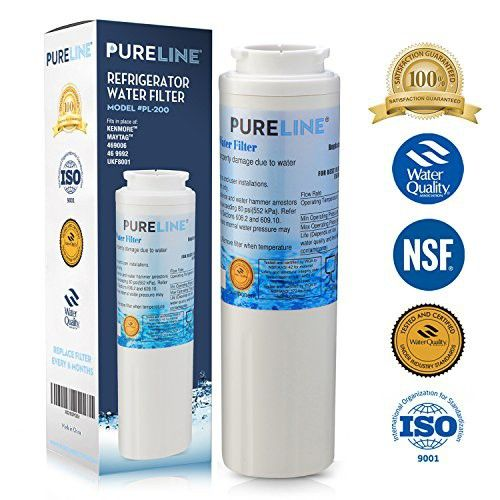 Pure Line Ukf8001 Pur Fast Flow Water Filter Replacement Ukf8001axx Edr4rxd1 Whirlpool 4396395 Puriclean Ii Kenmore 9006 By Pure Line 1 Water Filter Refrigerator Water Filter Pure Products